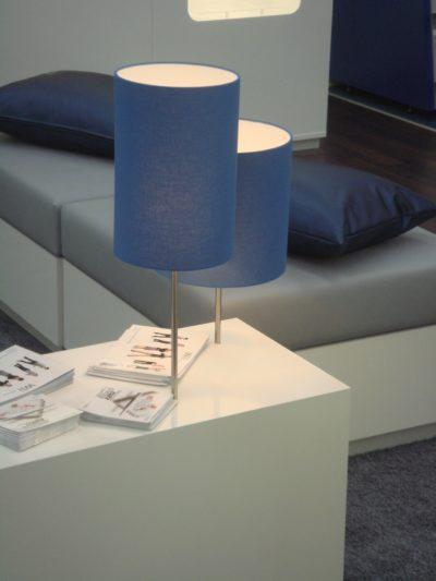 Kaschierte Lampenschirm aus der Werkstatt für Lampenschirme für einen Spielekonsole-Hersteller.