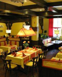 Das Restaurant Witwe Bolte in Stade mit thematisch perfekt passenden Lampenschirmen.